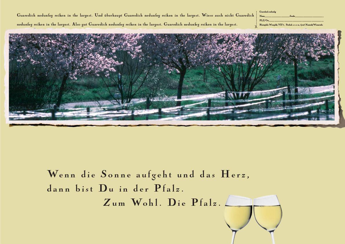Anzeigenmotive für die Pfalz