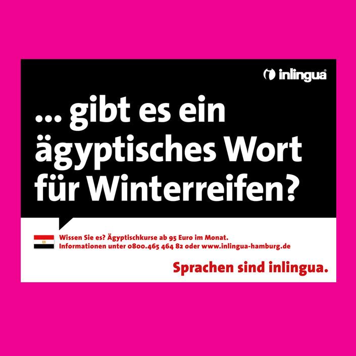 Sprachschule Inlingua - Typo-Kampagne