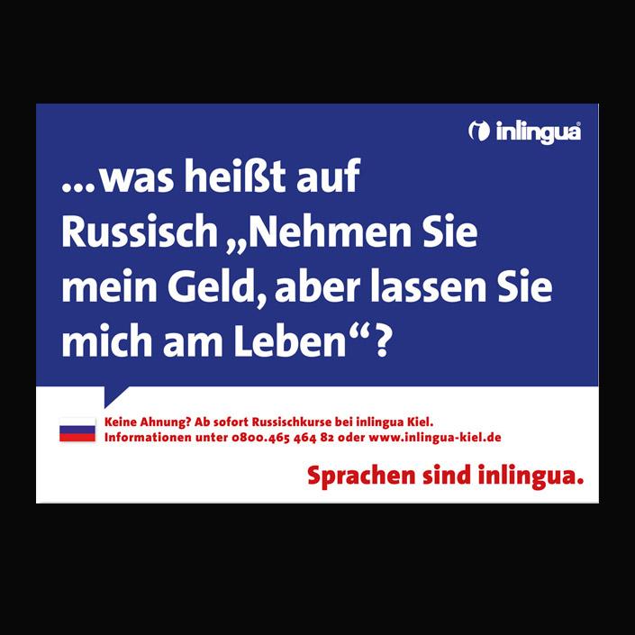 Typo-Kampagne für Inlingua, Texte von Achim Szymanski