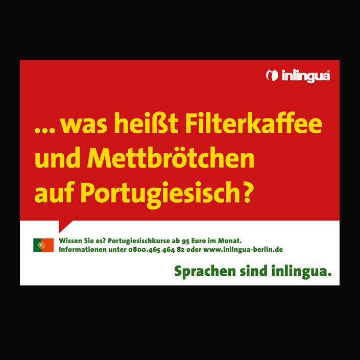 Plakat-Kampagne für die Sprachschule Inlingua
