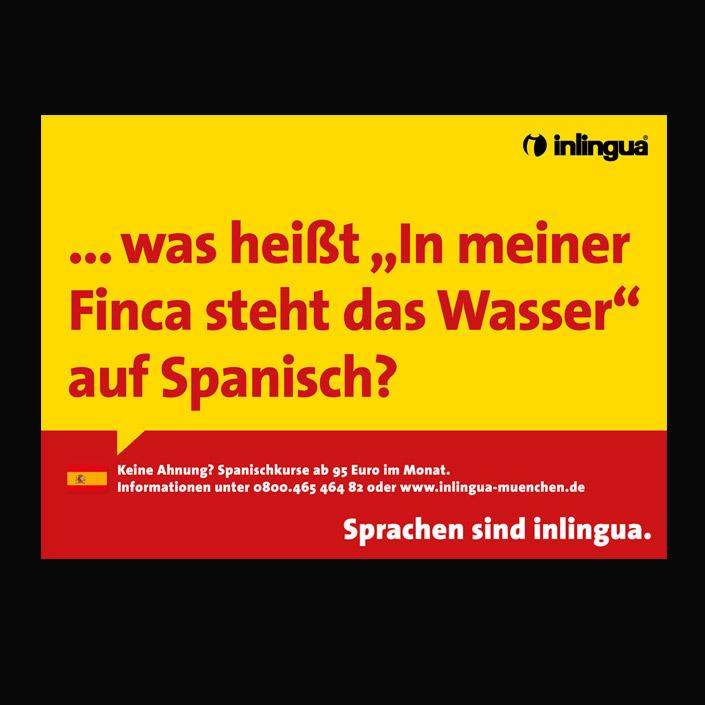 Plakat Kampagene für eine Sprachschule. Texte: Achim Szymanski
