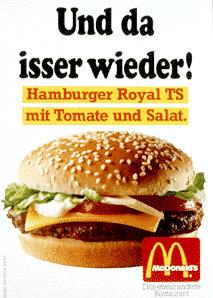 Da isser wieder! McDonald's Royal TS mit neuer Rechtschreibung
