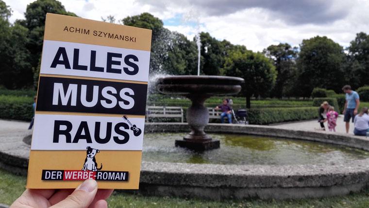 Buchabbildung des Werbe-Roman im Hofgarten