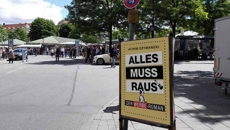 In München Plakat mit