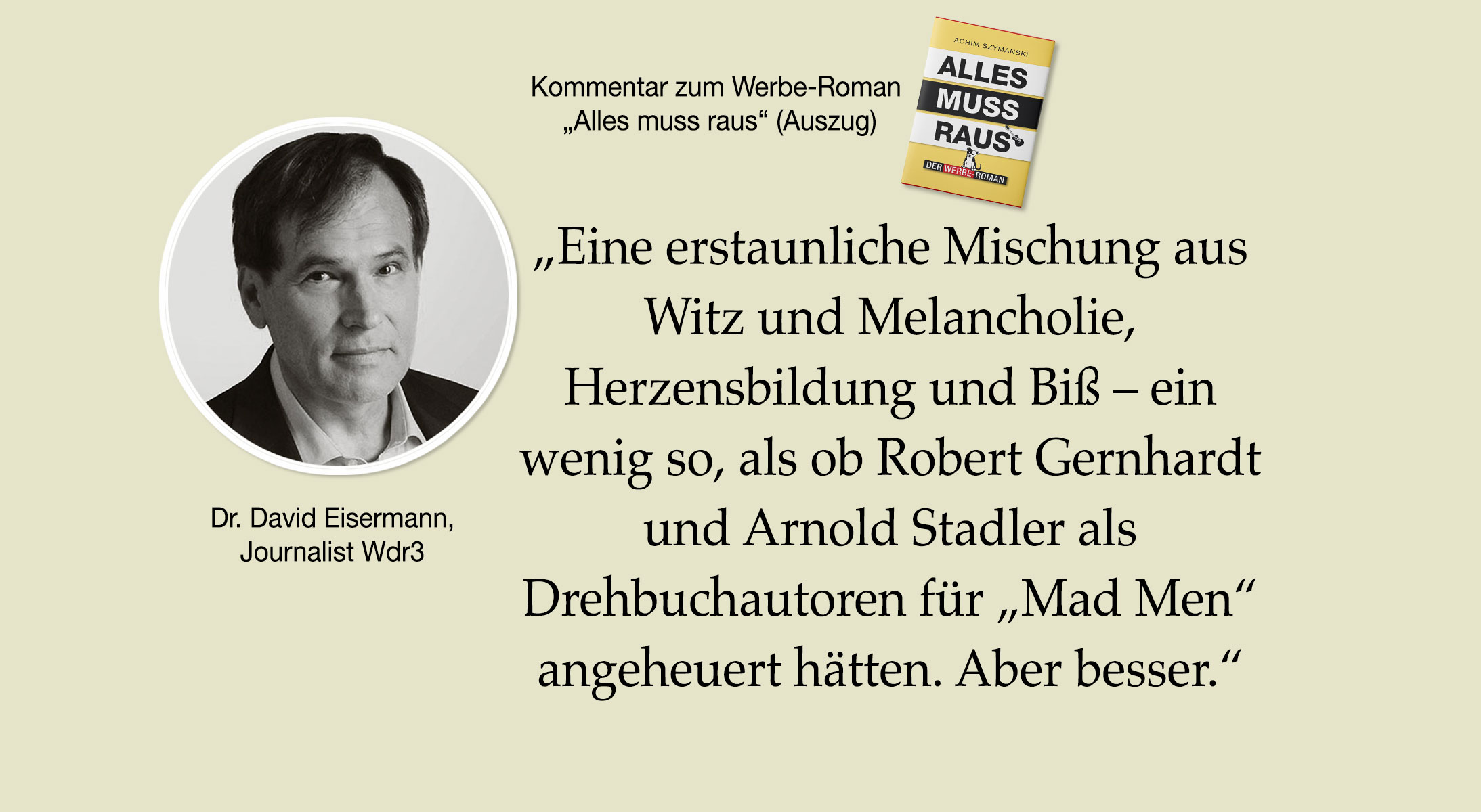 Rezension Werber-Roman von Dr. David Eisermann