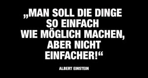 Einstein Zitat - Was gute Werbetexter ausmacht