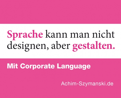 Corporate Language gestalten