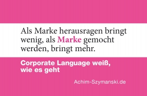 Corporate Language - die Marke