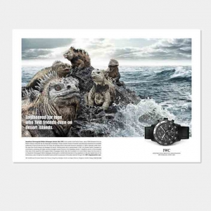 Anzeigen Kampagne für IWC Uhren