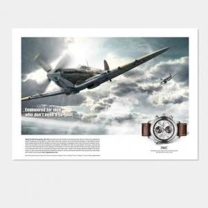 IWC Uhren Anzeigen Kampagne Motiv Flieger