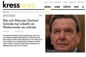 """Redewendungen: Schröder """"erfindet sich neu"""""""