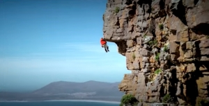 TV Spot für Katjes mit Rainer Calmund als Free Climber