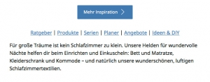 Unternehmenssprache bei IKEA -Webseite
