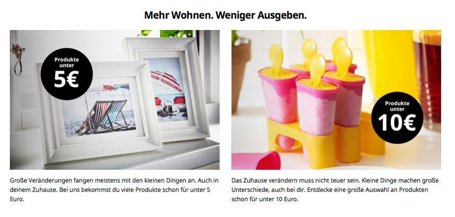 IKEA-Webseite - Corporate Language
