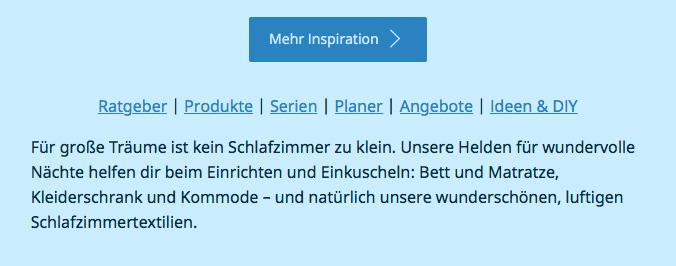 Corporate Language bei IKEA - Webseite