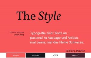 Magazin Design Typographie